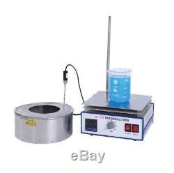 1-5L Magnetic Stirrer Magnetic Mixer Water Oil Bath Pot Stir Hot Plate Stirring