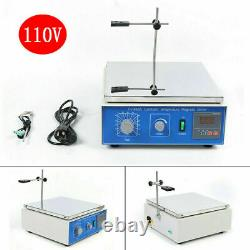 10L Digital Constant Temperature Magnetic Hot Plate Magnetic Stirrer Mixer 110V