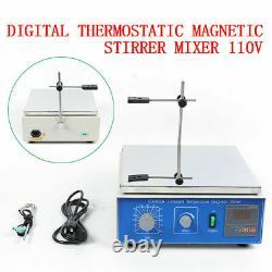 10L Digital Lab Thermostatic Hot Plate Magnetic Stirrer Mixer 110V