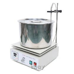 10L Magnetic Stirrer Hot Plate Mixer with Heating Plate Home Laboratory withBarrel