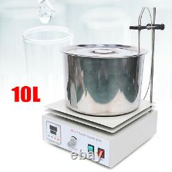 10L Magnetic Stirrer Magnetic Mixer Stir Hot Plate Stirring Water Oil Bath Pot