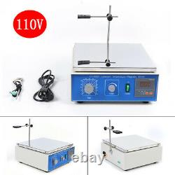 10L Thermostatic Magnetic Stirrer Digital Heating Lab Mixer Hot Plate 0-1250 rpm