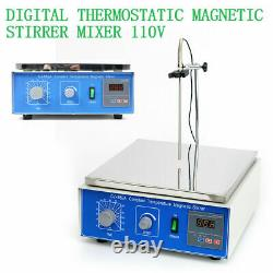 10L Thermostatic Magnetic Stirrer With Hot Plate Digital Heating Lab Mixer 300W