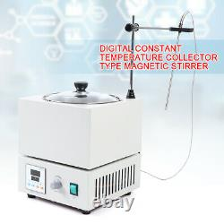 110V 40W Digital Heat Gathering Magnetic Stirrer Water Bath 300°C Thermostat HOT