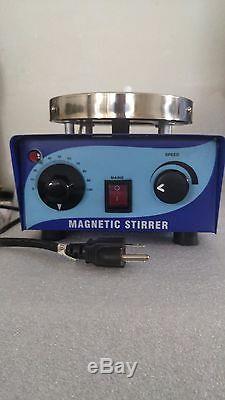 110v or 220v Magnetic Stirrer Hot Plate with 50mm Stir Bar & Working Manual