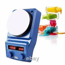 5 Inch Hot Plate Magnetic Stirrer Mixer Stirring Lab 5L Dual Control 0-1500r/min