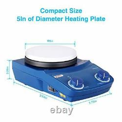 5 Inch Lab Magnetic Stirrer Hot Plate Mixer with 5 Magnetic Hotplate Stirrer