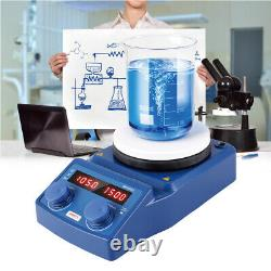 5L Magnetism Stirrer Heating Mixer Digital Hot Plate Magnetic Machine PT1000 USA