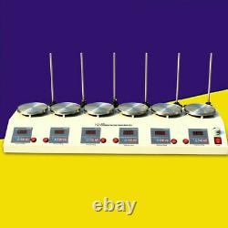 6 Units Heads Magnetic Stirrer Hot Plate Heating Mixer 625w DC Motor 1000ml US
