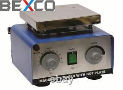 Best Price, Magnetic Stirrer and Hot Plate 220 V 5000 ml by BEXCO Free DHL Ship