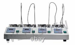 Brand New 4 Units Multi Unit Digital Thermostatic Magnetic Stirrer Hotplate Hot