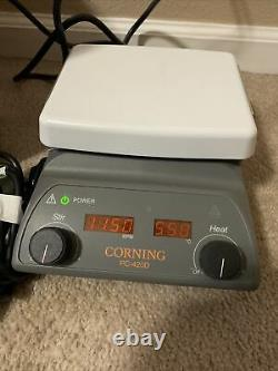 Corning 6796-420D PC420D Digital Stirring Hot Plate 5x7 Pyroceram Top 230V