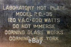 Corning Glass Works PC-35 Hotplate Hot Plate Black