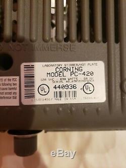 Corning PC-420 Hot Plate Magnetic Stirrer 5 x 7 120V