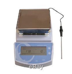 Digital Hot Plate Magnetic Stirrer Electric Heating Mixer Max Temperature 300