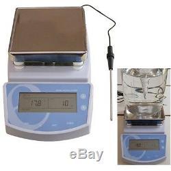Digital Hot Plate Magnetic Stirrer Electric Heating Mixer Stir Temperature 300