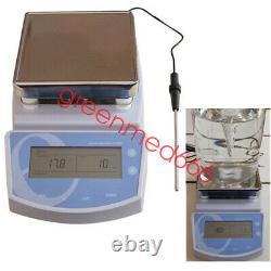 Digital Hot Plate Magnetic Stirrer Electric Heating Mixer Temperature TEMP Lab