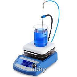 Electric LCD Digital Magnetic Stirrer Hot Plate Chemistry 3 Stir Bars Temp Probe