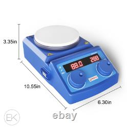 Four E's Digital magnetic stirrer heating hot plate, 1500 rpm stir speed, rt280