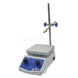 Hot Plate Magnetic Stirrer Dual Control +1 inch Stir Bar for Laboratory 2000ml #