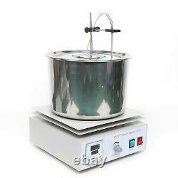 Hot Plate Magnetic Stirrer Mixer Stirring Laboratory 1000ml Dual Control +Barrel