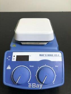 IKA C-MAG HS 4 Hot Plate Magnetic Stirrer Stirring Digital 120V Mix WARRANTY