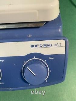 IKA C-MAG HS7 Hot Plate Magnetic Stirrer Digital 7x7 120V TESTED
