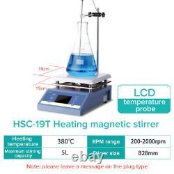 JOANLAB Magnetic Hotplate Stirrer Digital Hot Plate Heating Mixer 1L 3L 5L