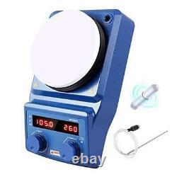 LED Digital Magnetic Hotplate Stirrer Four E's Lab Hot Plate with Stir Bar &