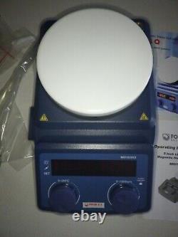 LED Digital Magnetic Hotplate Stirrer Four E's Lab Hot Plate with Stir Bar
