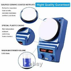 LED Digital Magnetic Hotplate Stirrer Four E's Lab Hot Plate with Stir Bar & T
