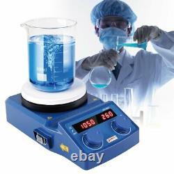 LED Magnetic Hotplate Stirrer Mixer Shaker Ceramic Coated Hot Plate 100-1500RPM