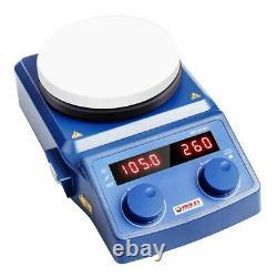 Lab 5 Inch LED Digital Magnetic Hotplate Stirrer Hot Plate withEU Plug 100-1500RPM