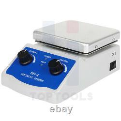 Magnet Stirrer with Hot Plate & Magnetic Stirrer Bar & Speed Adjusting 3000ML