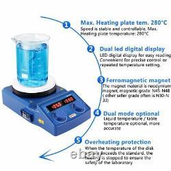 Magnetic Stirrer Heating Mixer 5LED Digital Ceramic Coated Hot Plate Laboratory