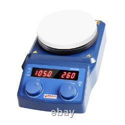 Magnetic Stirrer Hot Plate Lab Dual Controls Heating Stirring Holder Laboratory