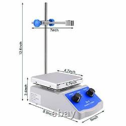 Magnetic Stirrer Hot Plate Mixer 1000ml Stirring Capacity 5 x 5 inch Max 716F