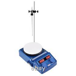 Magnetic Stirrer Hot Plate Mixer 5 inch LED Digital Hotplate 1500 RPM Stirrer US