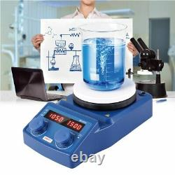 Magnetic Stirrer Hot Plate Mixer 5000ml Stirring with Stirring Bar & Support Stand