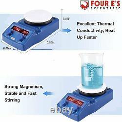 Magnetic Stirrer Hot Plate Mixer 5L Stirring 5 inch Hotplate 1500 RPM Stirrer US