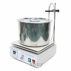 Magnetic Stirrer Hot Plate Stirring Heat Dual Controls 40w Heating Plate +Barrel