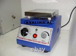 Magnetic Stirrer With Hot Plate USE IN MEDICAL HOSPITAL HEALTHCARE LAB