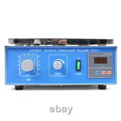 NEW Magnetic Stirrer Lab Mixer 110V CJ-882A With Hot Plate Digital Heating 10L