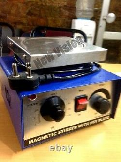 New Vision 1000ml Magnetic Stirrer (220V) with Hot plate Fast Shipping