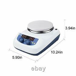 ONiLAB 5 inch LED Digital Hotplate Magnetic Stirrer Hot Plate with Ceramic Co
