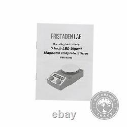 OPEN BOX Fristaden Lab Digital Magnetic Hot Plate Stirrer in Blue Large 5L