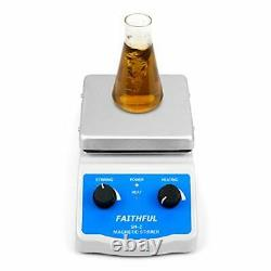 SH-2 Hot Plate Magnetic Stirrer with Dual Control and 1 Inch Stir Bar C3
