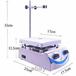 SH-3 Hot Plate Magnetic Stirrer 5000ml Volume with Dual Control and 1 Inch St