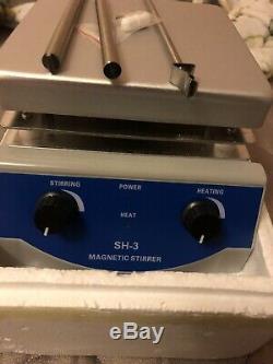 SH-3 Hot Plate Magnetic Stirrer Mixer Stirring Laboratory 3000ml 2 Dual Control