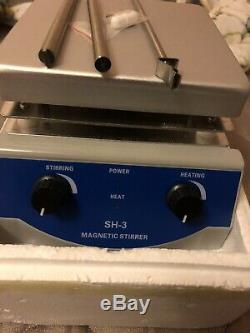SH-3 Hot Plate Magnetic Stirrer Mixer Stirring Laboratory 3000ml 2 Dual Control